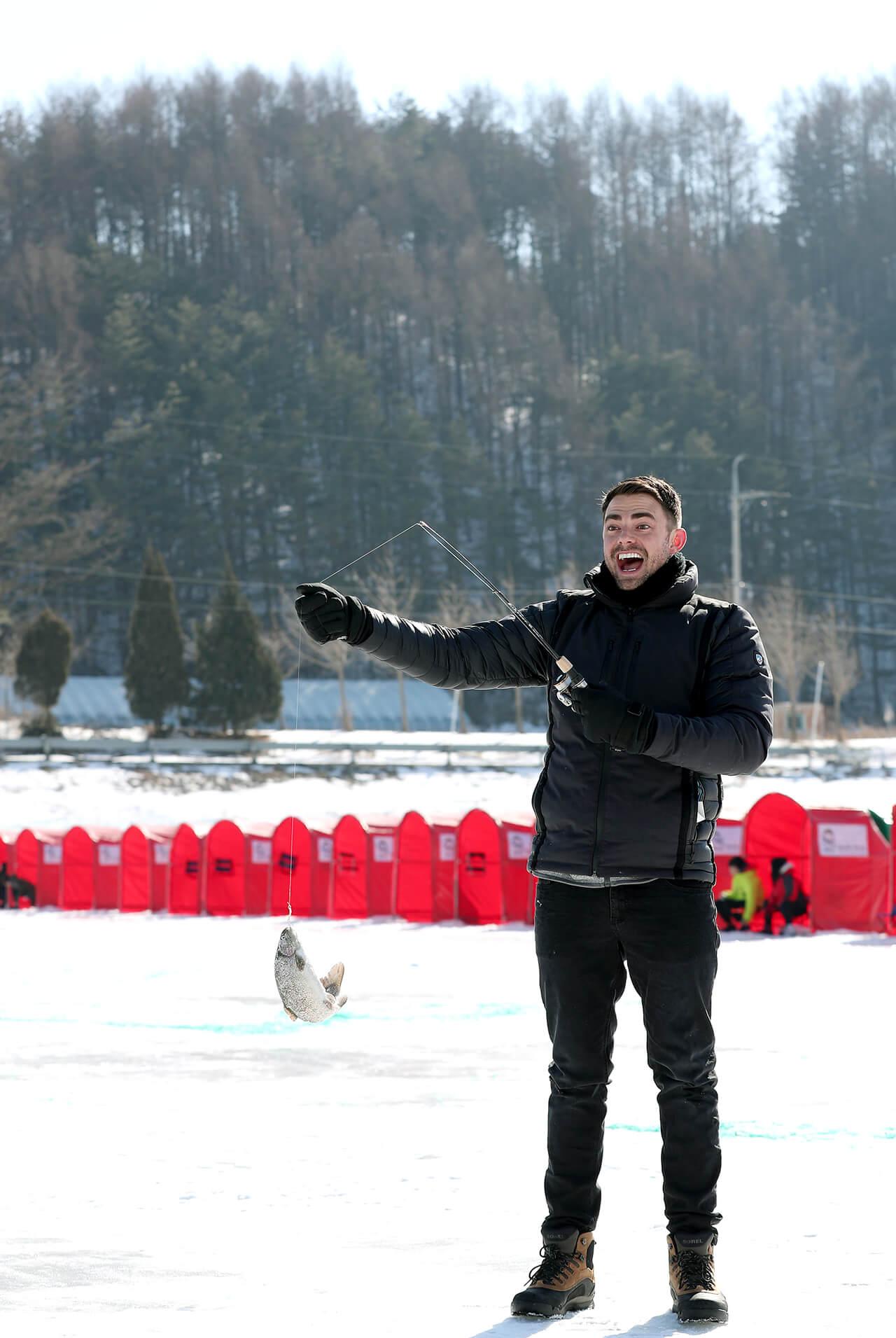 Lễ hội câu cá trên băng tại Pyeongchang