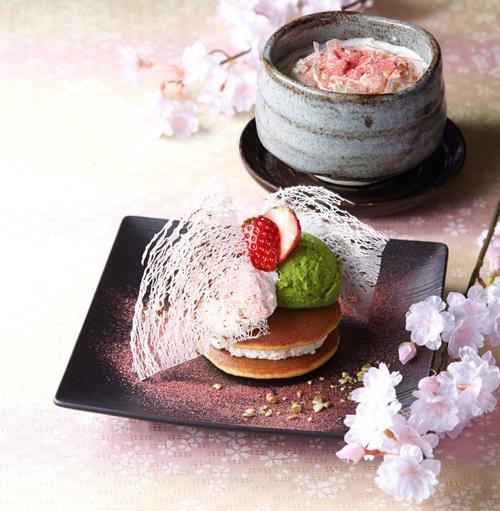 Bánh pancake Dorayaki kẹp nhân kem tiramisu vị anh đào