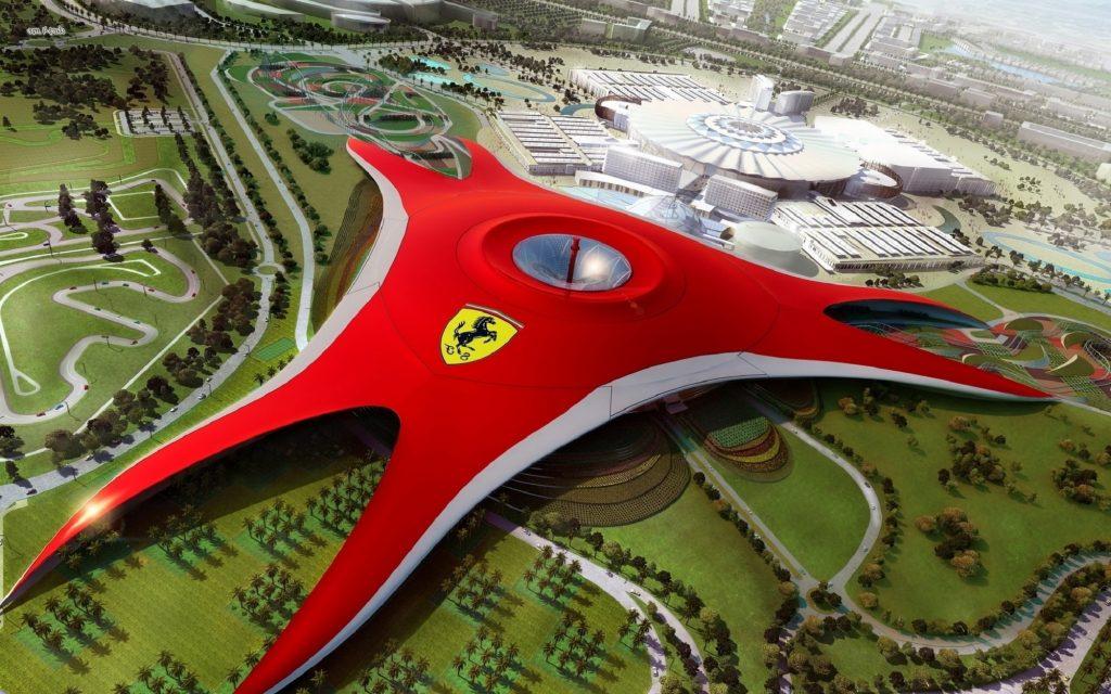 Ferrari World là công trình vĩ đại của bàn tay con người