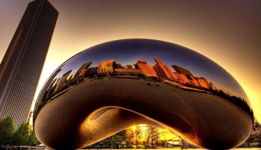 Thành phố Chicago phản chiếu mỹ lệ trong ánh chiều