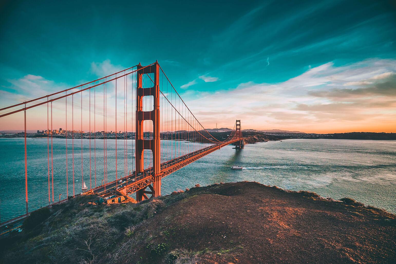 Cầu cổng vàng - tour du lịch Mỹ